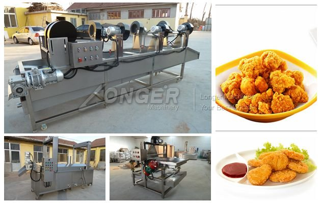 Chicken Nuggets Processing Line|Chinecken Nugget Frying Machine